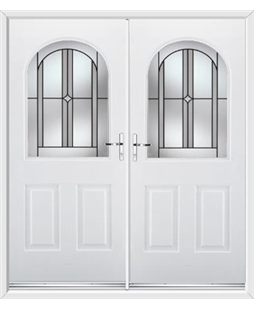Kentucky French Rockdoor in White with Ellipse