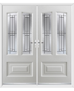 Illinois French Rockdoor in White with Empire