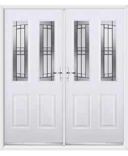 Jacobean French Rockdoor in White with Empire