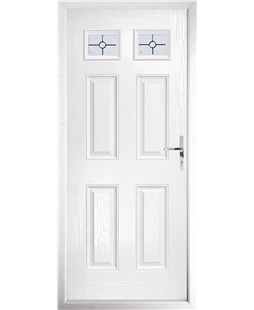 The Ipswich Composite Door in White with Finesse Glazing
