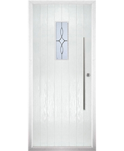 The Zetland Composite Door in White with Flair Glazing