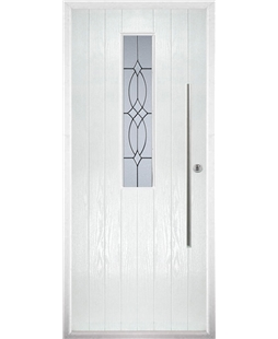 The York Composite Door in White with Flair Glazing