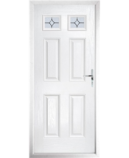 The Ipswich Composite Door in White with Flair Glazing