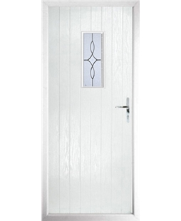 The Taunton Composite Door in White with Flair Glazing