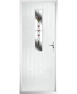 The Sheffield Composite Door in White with Fleur