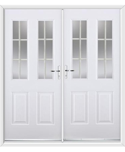 Jacobean French Rockdoor in White with White Georgian Bar