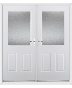 Windsor French Rockdoor in White with Gluechip Glazing