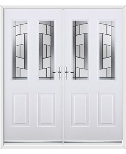 Jacobean French Rockdoor in White with Inspire