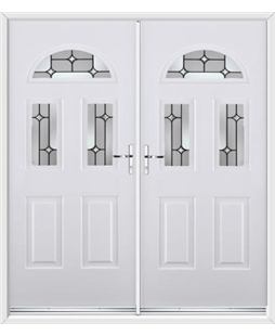 Tennessee French Rockdoor in White with Linear