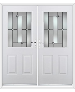 Windsor French Rockdoor in White with Linear