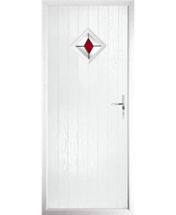 The Reading Composite Door in White with Red Diamond