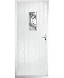 The Taunton Composite Door in White with Simplicity