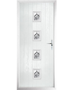 The Uttoxeter Composite Door in White with Simplicity