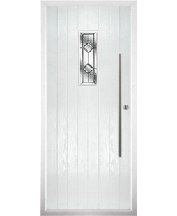 The Zetland Composite Door in White with Simplicity