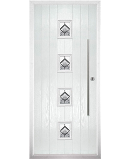 The Leicester Composite Door in White with Simplicity