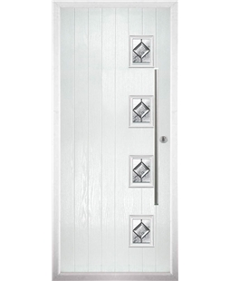 The Norwich Composite Door in White with Simplicity