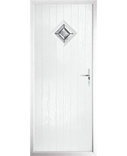 The Reading Composite Door in White with Simplicity