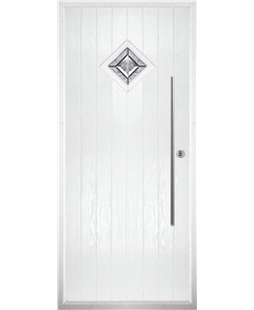 The Wolverhampton Composite Door in White with Simplicity