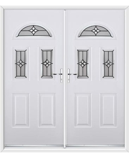 Tennessee French Rockdoor in White with Summit