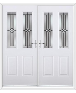 Jacobean French Rockdoor in White with Summit