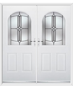Kentucky French Rockdoor in White with Summit