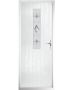 The Sheffield Composite Door in White with Crystal Diamond