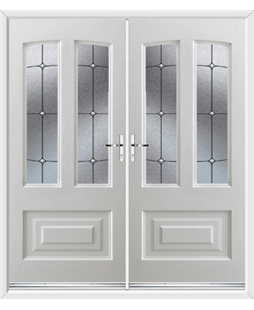 Illinois French Rockdoor in White with Trinity