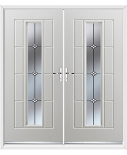 Vermont French Rockdoor in White with Trio
