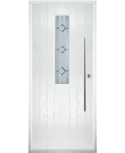 The York Composite Door in White with Simplicity