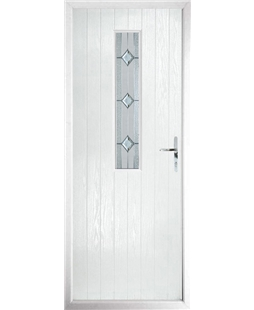 The Sheffield Composite Door in White with Simplicity
