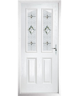 The Birmingham Composite Door in White with Crystal Diamond