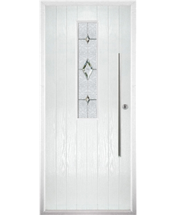 The York Composite Door in White with Crystal Diamond