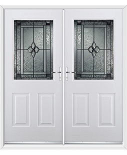 Windsor French Rockdoor in White with Triton Glazing