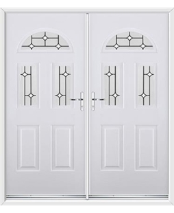 Tennessee French Rockdoor in White with White Diamonds