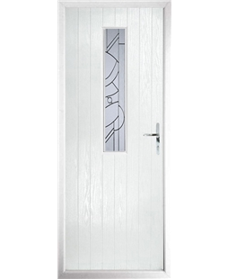 The Sheffield Composite Door in White with Zinc Art Abstract