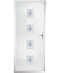 The Uttoxeter Composite Door in White with Zinc Art Elegance