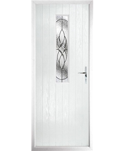 The Sheffield Composite Door in White with Zinc Art Elegance