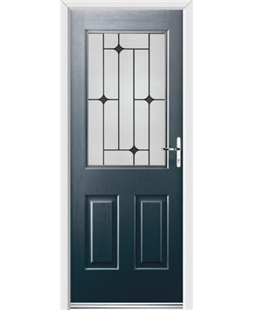 Ultimate Windsor Rockdoor in Anthracite Grey with Black Diamonds