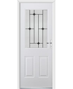 Ultimate Windsor Rockdoor in Blue White with Black Diamonds