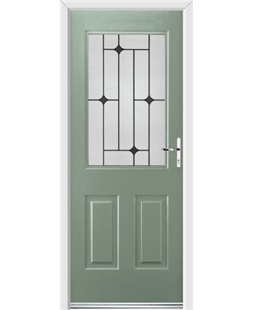 Ultimate Windsor Rockdoor in Chartwell Green with Black Diamonds