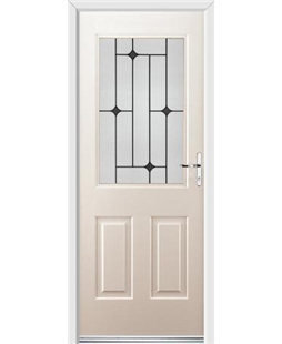 Ultimate Windsor Rockdoor in Cream with Black Diamonds