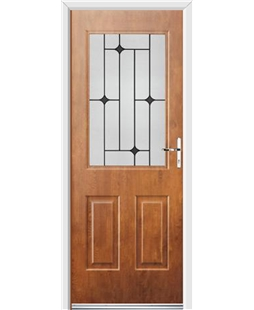 Ultimate Windsor Rockdoor in Light Oak with Black Diamonds
