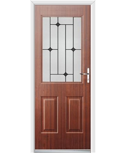 Ultimate Windsor Rockdoor in Mahogany with Black Diamonds