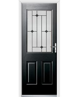 Ultimate Windsor Rockdoor in Onyx Black with Black Diamonds