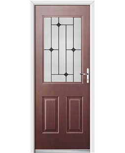 Ultimate Windsor Rockdoor in Rosewood with Black Diamonds