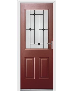 Ultimate Windsor Rockdoor in Ruby Red with Black Diamonds