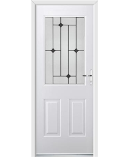Ultimate Windsor Rockdoor in White with Black Diamonds