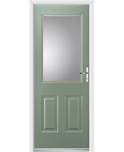 Ultimate Windsor Rockdoor in Chartwell Green with Glazing