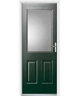 Ultimate Windsor Rockdoor in Emerald Green with Glazing