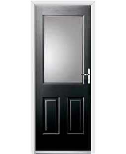 Ultimate Windsor Rockdoor in Onyx Black with Glazing